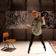 Jemima Foxtrot performing Melody at The Barbican Art Gallery.